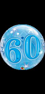Ballon Bubble anniversaire 50 ans Etoile bleu 55 cm