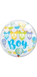 Ballon Bubble baby boy! 55 cm