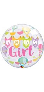 Ballon Bubble baby girl! 55 cm