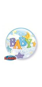 Ballon Bubble Bébé garçon 55 cm