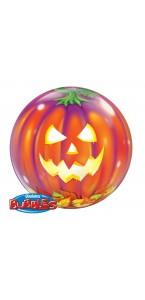 Ballon Bubble citrouille 55 cm