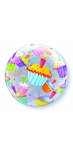 Ballon Bubble Cupcake transparent