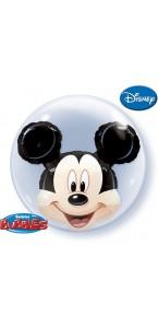 Ballon Bubble double Mickey Mouse transparent