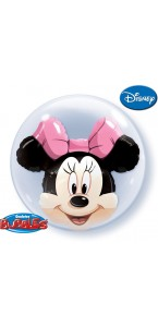 Ballon Bubble double Minnie Mouse transparent