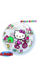 Ballon Bubble Hello Kitty transparent