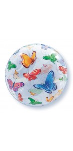 Ballon Bubble Papillons 55 cm