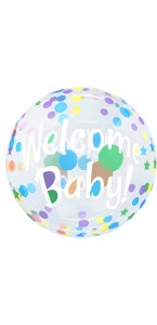 Ballon Bubble Welcome baby! 55 cm