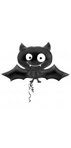 Ballon Chauve-souris noir Halloween 66 x 78 cm
