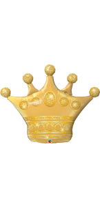 Ballon Couronne dorée 100 cm