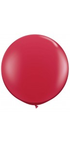 Ballon de baudruche géant en latex  opaque rouge