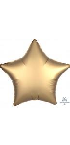 Ballon étoile satin luxe or 43 cm