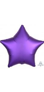 Ballon étoile satin luxe violet 43 cm