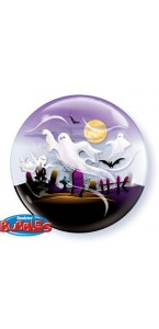 Ballon Fantômes Bubble halloween transparent