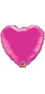 Ballon Forme Cœur en aluminium fuschia