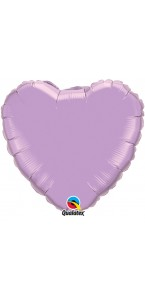 Ballon Forme Cœur en aluminium lavande