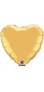 Ballon Forme Cœur en aluminium or