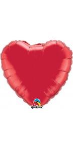 Ballon Forme Cœur en aluminium rouge