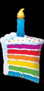 Ballon Gâteau et bougie 100 cm