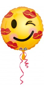 Ballon Kiss Emoticon 43 cm