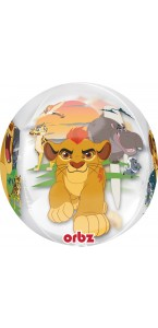 Ballon La Garde du Roi Lion clear Orbz 38 x 43 cm