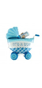 Ballon landau bleu it's boy 88 cm