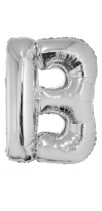 Ballon lettre B aluminium argent
