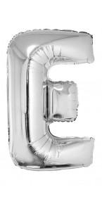 Ballon lettre E aluminium argent