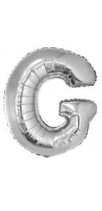 Ballon lettre G aluminium argent