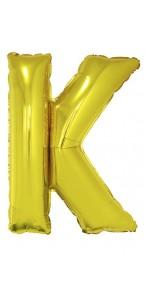 Ballon lettre K aluminium or