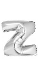 Ballon lettre Z aluminium argent