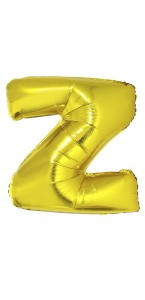 Ballon lettre Z aluminium or