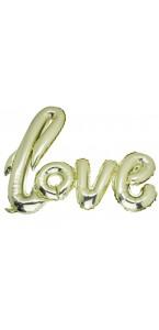 Ballon Love champagne métallisé 1m x 67,6 cm