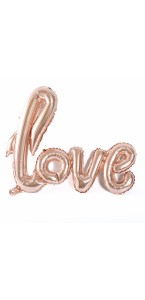 Ballon Love rose gold métallisé 1 m x 67,6 cm