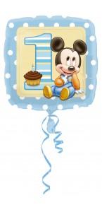 Ballon Mickey 1 st birthday standard HX