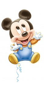 Ballon Mickey baby boy 51 x 84 cm