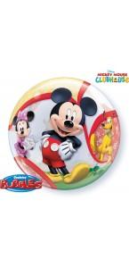 Ballon Mickey et ses amis bubble transparent