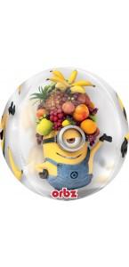 Ballon Minions Clear Orbz 38 x 40 cm