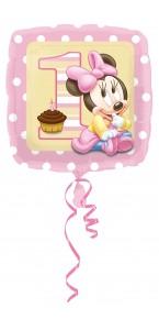 Ballon Minnie 1 st birthday standard HX
