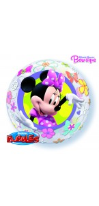 Ballon Minnie mouse bubble transparent