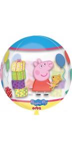 Ballon Peppa Pig Clear Orbz 38 x 40 cm