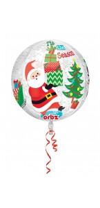 Ballon Père Noël avec cadeaux ORBZ 38 x 40 cm