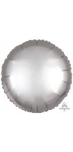 Ballon rond satin luxe argent 43 cm