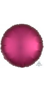 Ballon rond satin luxe grenade 43 cm