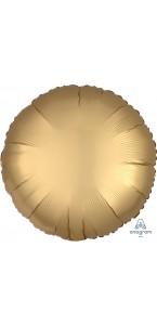 Ballon rond satin luxe or 43 cm