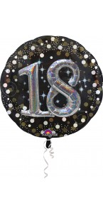 Ballon Sparkling Celebration Birthday 18 ans