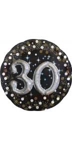 Ballon Sparkling Celebration Birthday 30 ans 81 cm