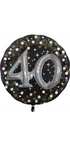 Ballon Sparkling Celebration Birthday 40 ans 81 cm