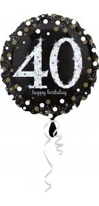 Ballon Sparkling Celebration Birthday 40
