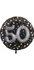 Ballon Sparkling Celebration Birthday 50 ans 81 cm