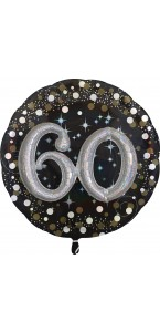 Ballon Sparkling Celebration Birthday 60 ans 81 cm